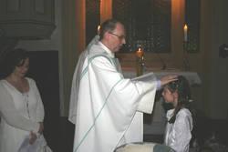 Taufe von Vivika von Essen in der Osternacht