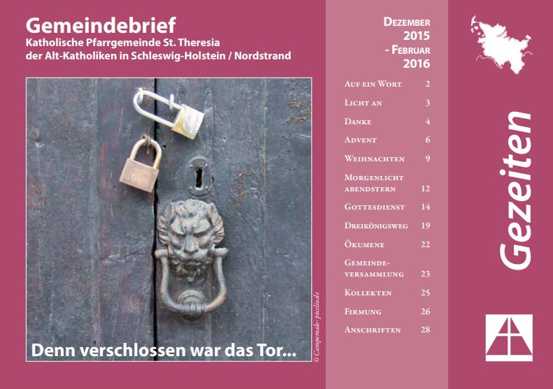 Gemeindebrief Dezember 2015 bis Februar 2016