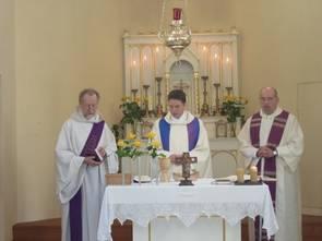 2012 Primiz: Diakon Max Seitz, Pfarrer Daniel Saam, Pfarrer Siegfried Thuringer