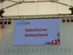 Gottesdienst auf der Landesgartenschau Deggendorf am 10.8. (LGS)
