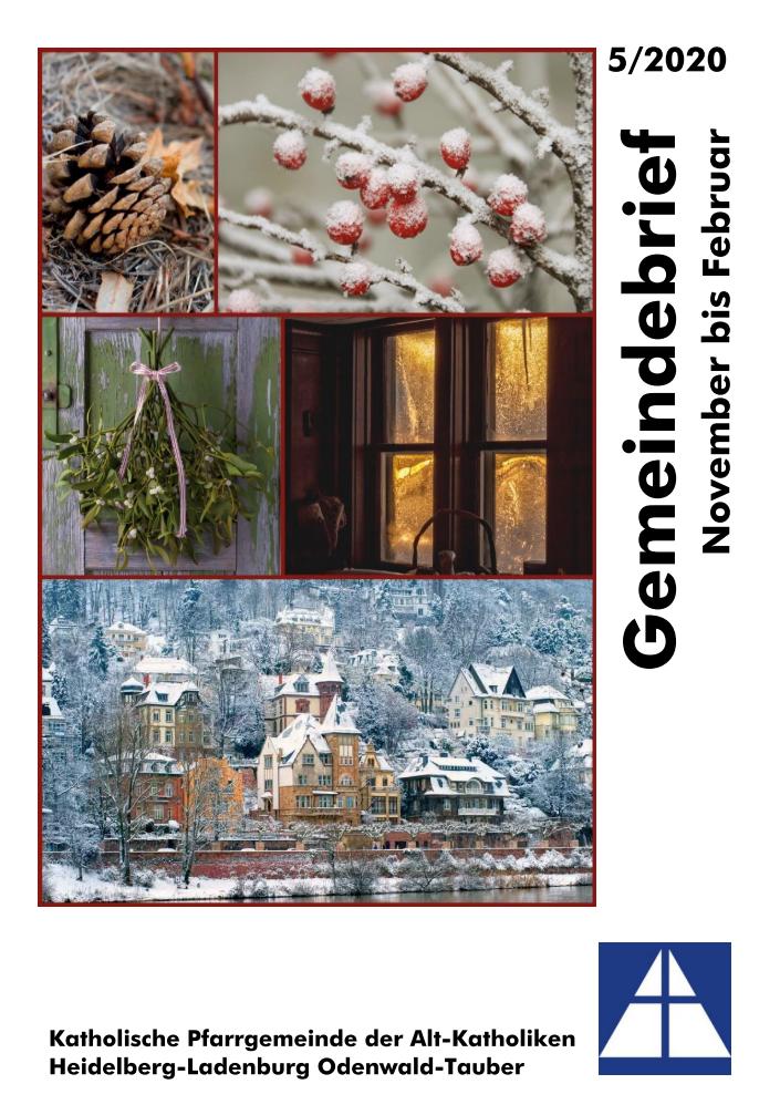 Gemeindebrief November bis Februar