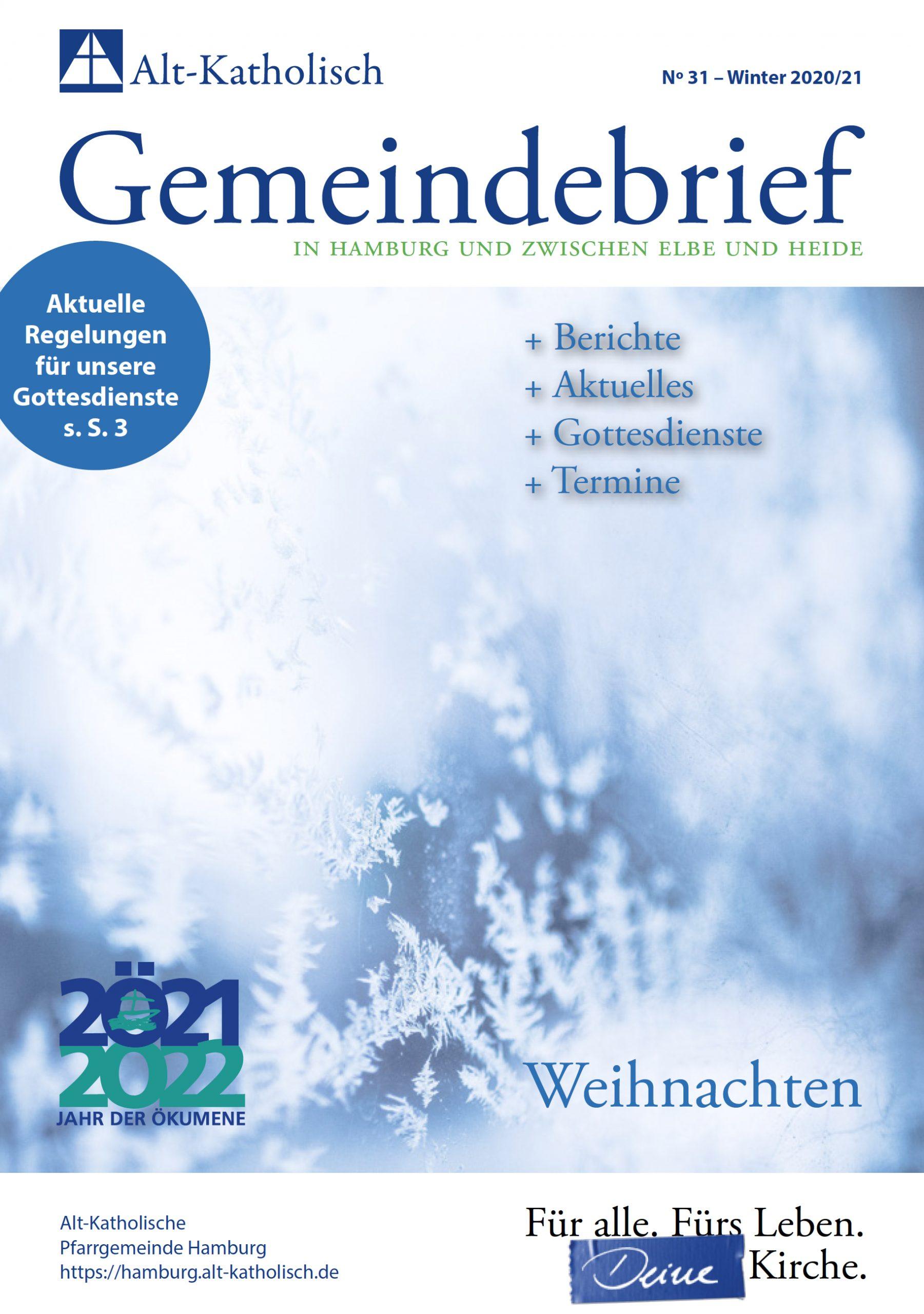 Gemeindebrief Winter 2020 / 2021